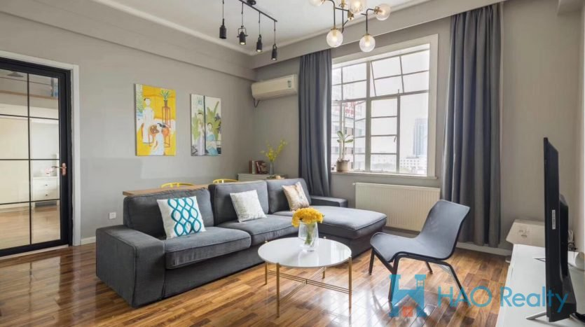 Sunny 1BR Apartment w/Wall Heating in Downtown HAO Realty Shanghai HAOEC026338